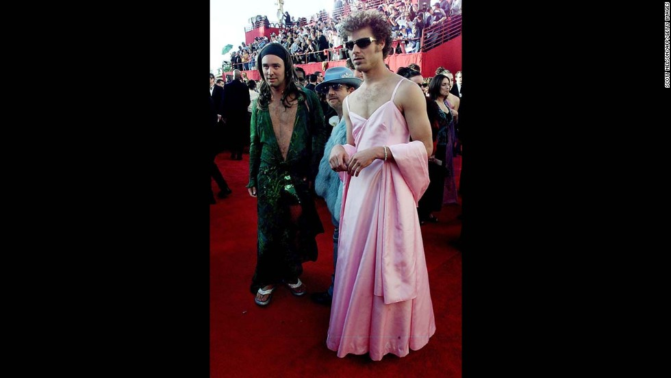 "To begin with, we're not fans of knockoffs, so that was strike one against ""South Park"" creators Trey Parker, left, and Matt Stone, who went to the 2000 Oscars dressed as Jennifer Lopez and Gwyneth Paltrow. And strike two is that we actually liked Paltrow's bubble-gum-pink princess dress from the 1999 Oscars -- <a href=""http://www.usmagazine.com/celebrity-style/news/blythe-danner-hated-gwyneth-paltrows-pink-oscar-dress-2012262"" target=""_blank"">even if her own mother hated it. </a>"