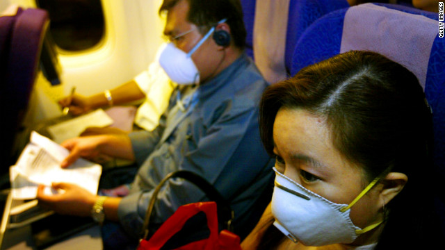 Passengers wear masks during the SARS outbreak in 2003.