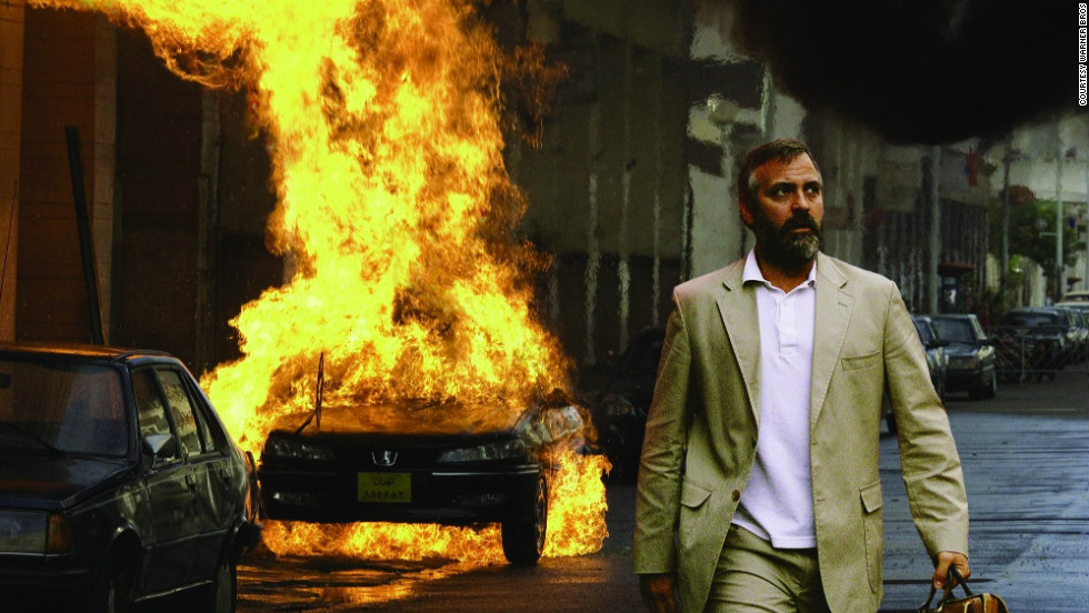 "George Clooney is Bob Barnes in the 2005 politically charged drama ""Syriana,"" which focuses around the issues of Mideast oil, power and intrigue."