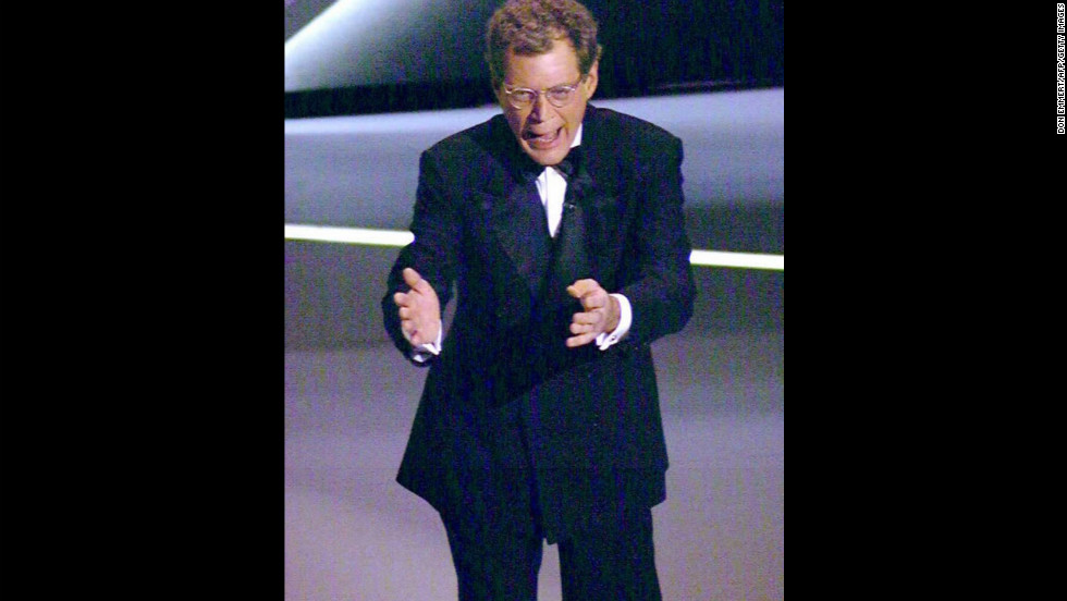 """Critics blasted David Letterman for his hosting abilities after he told -- and retold -- the same joke over and over again at the 1995 Oscars. The """"Late Show"""" host just didn't know when to quit with his <a href=""""http://www.youtube.com/watch?v=J-BJTE56I14"""" target=""""_blank"""">""""Oprah, Uma. Uma, Oprah,"""" gag.</a>"""