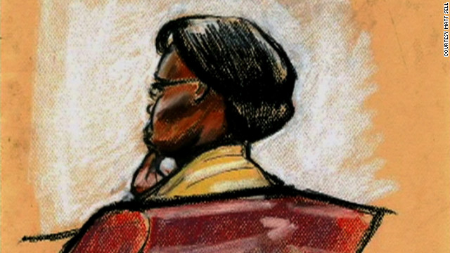 Courtroom sketch of Beatrice Munyenyezi.