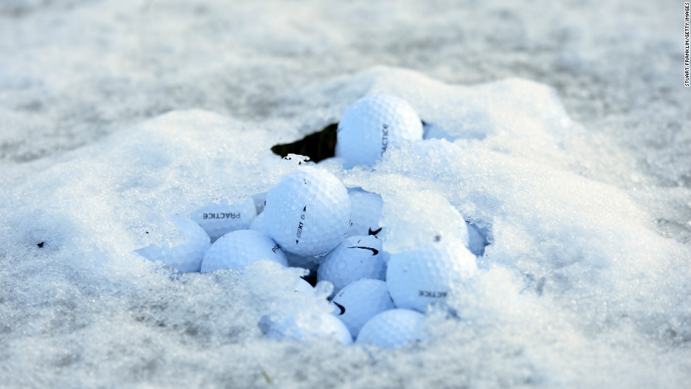While forecasts hinted at a morning frost, few expected a deluge of snow at the World Golf Championships which is being played at 2,800 feet above sea level. Over two inches of snow fell in under 24 hours, leaving conditions unplayable.