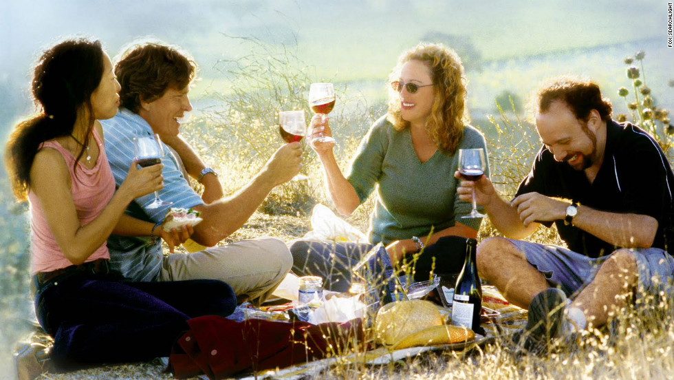 "Whether it be for the hopeful coming of spring -- or a certain holiday often associated with a celebratory tipple or two -- we present to you some of the most memorable drinking movies through the years. Films like ""Sideways"" from 2004, which stars, from left, Sandra Oh, Thomas Haden Church, Virginia Madsen and Paul Giamatti. The movie put ""pinot noir"" on the palates of moviegoers."