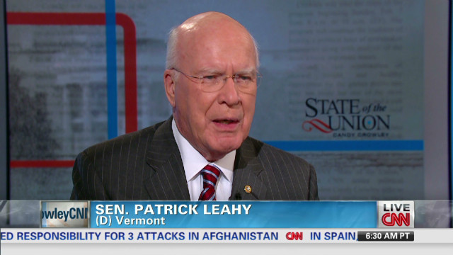 Sen. Leahy on gun control proposals