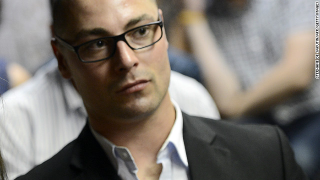 Carl Pistorius, brother of Oscar Pistorius, at a bail hearing for the runner on February 20, 2013.