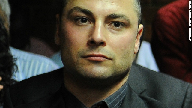 Carl Pistorius, brother of Olympic and Paralympic athlete Oscar Pistorius, at a bail hearing for the runner on February 22, 2013.