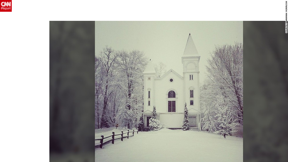 "<a href=""http://ireport.cnn.com/docs/DOC-932418"" target=""_blank"">Hannah Morrison</a> shot this lovely winter scene of an old church in Maine that is now house. ""I took a walk into town this morning and couldn't help but take a photo of it,"" she said."