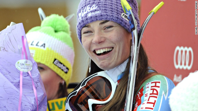 Tina Maze was claiming her eighth win of the season by taking the super-combined race at Meribel.
