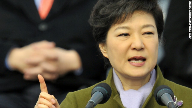 South Korean President Park Geun-hye says the future of the Korean peninsula relies on U.S. involvement in the peace process.