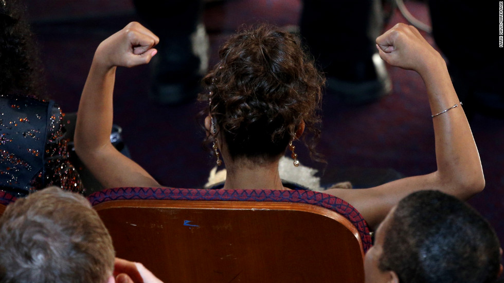 Quvenzhane Wallis gets excited when she's announced as a best actress nominee.