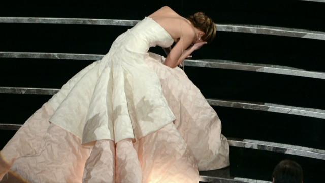 Jennifer Lawrence's Oscar night fall