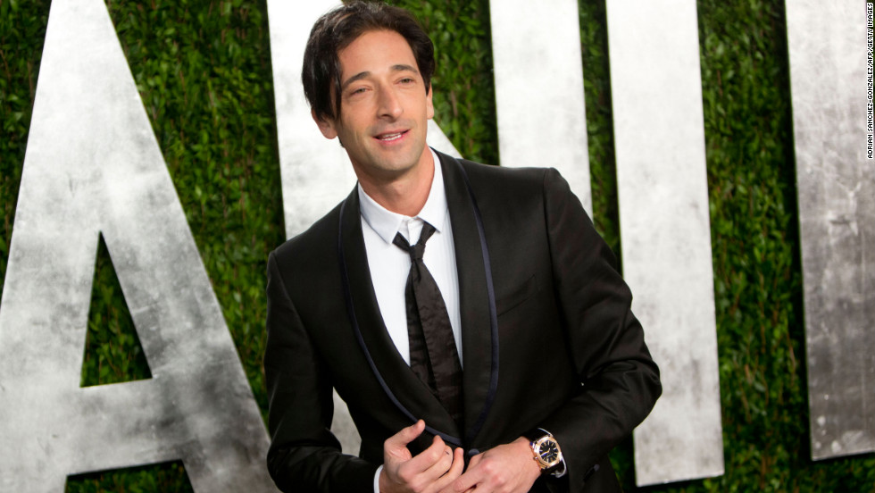 Adrien Brody at the 2013 Vanity Fair Oscar party.