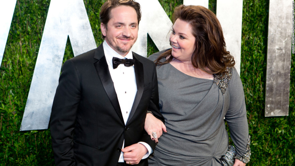 Melissa McCarthy and her husband at the 2013 Vanity Fair Oscar party.