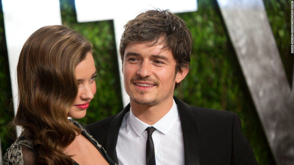Miranda Kerr and Orlando Bloom at the 2013 Vanity Fair Oscar party.