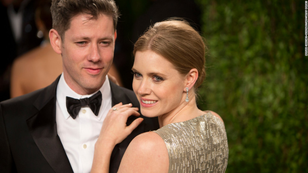 Amy Adams and husband at the 2013 Vanity Fair Oscar party.