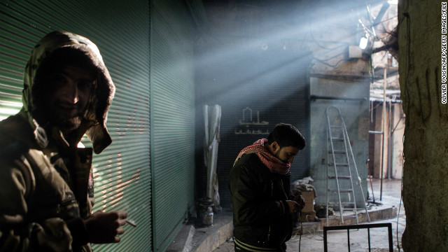 Journalist Olivier Voisin died from injuries suffered while working in Syria. Here is one of his photos from Aleppo's Old City.