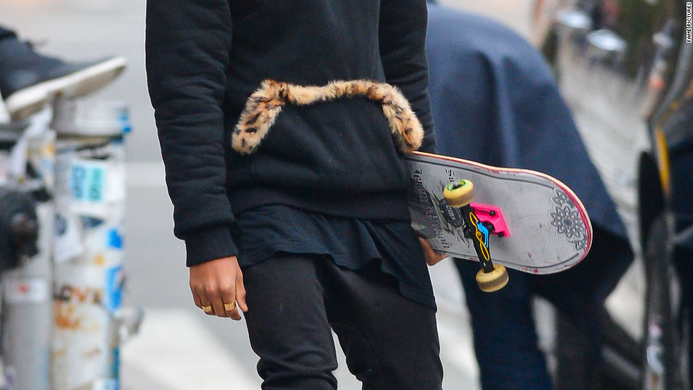 Jaden Smith films a music video in New York City.