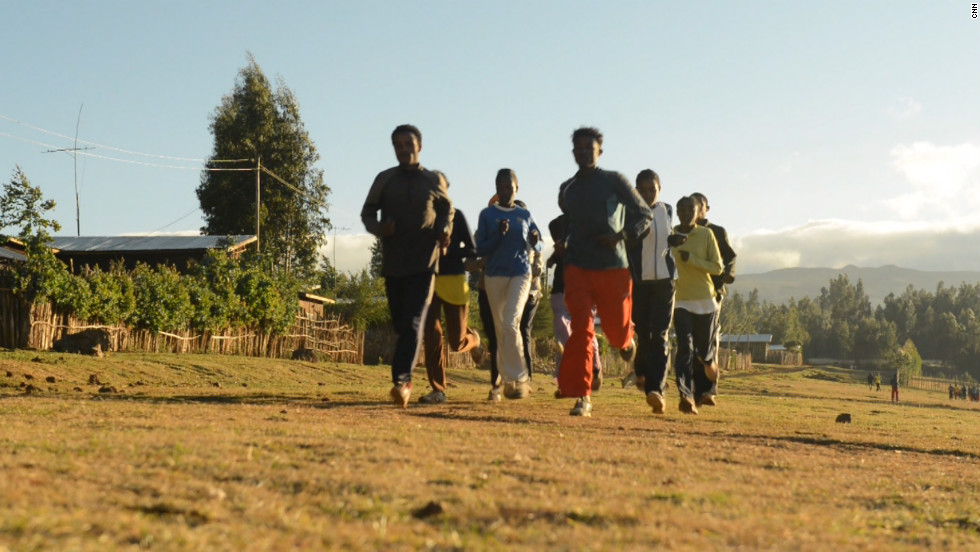 Set at about 2,800 meters above sea level, the town's runners benefit from training at high altitude.