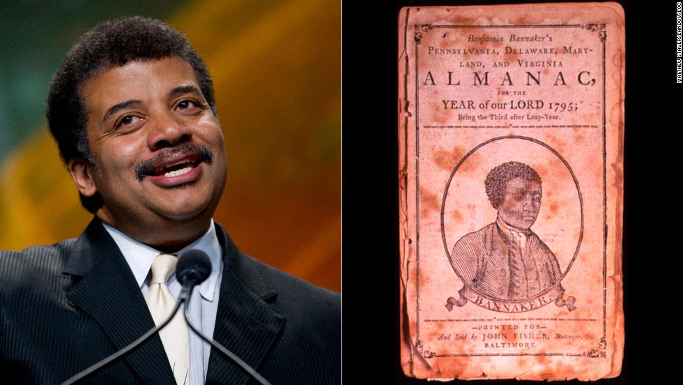 """A self-taught scientist and astronomer who hobnobbed with George Washington and Thomas Jefferson, Benjamin Banneker was a free black American who was a prolific almanac writer. He based his almanacs on his own astronomical, tidal and bee movement calculations. Popular astrophysicist <a href=""""http://www.haydenplanetarium.org/tyson/"""" target=""""_blank"""">Neil deGrasse Tyson</a> also loves science. He is the director of the Hayden Planetarium, won the NASA Exceptional Public Service Medal and frequently appears on satirical news and late-night talk shows to discuss the universe."""