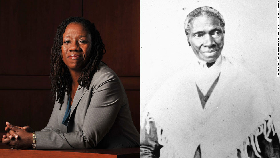 """Sojourner Truth, right, was one of the most outspoken abolitionists and women's rights advocates in U.S. history. After escaping slavery, she became the first African-American to win back her son from her former slave owner in a court of law. <a href=""""http://www.naacpldf.org/sherrilyn-ifill"""" target=""""_blank"""">Sherrilyn Ifill</a>, the president and director-counsel of the NAACP Legal Defense and Educational Fund, continues to fight for African-American rights. Ifill is a nationally recognized expert on voting rights and election analysis known for her work in judicial diversity and impartiality in decision-making."""