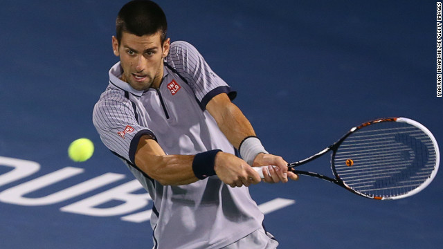 Serbian world No. 1 Novak Djokovic won three consecutive titles in Dubai between 2009 and 2011.
