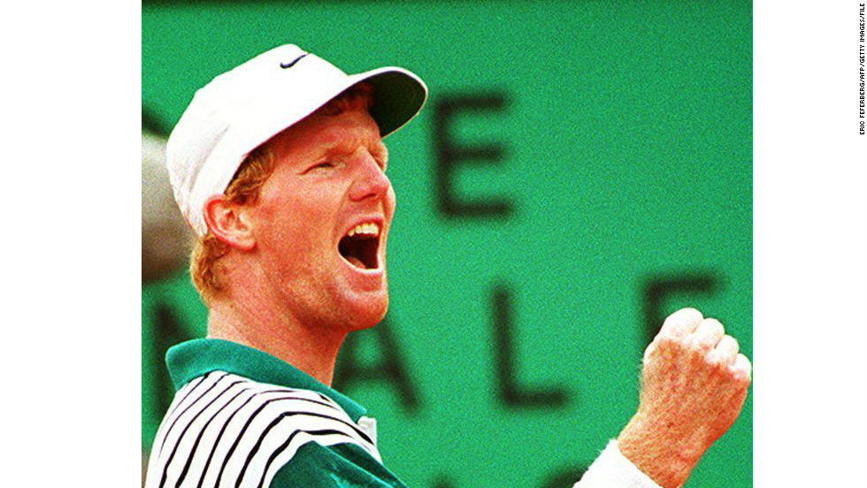 Pete Sampras won his first grand slam the following year before Jim Courier (pictured) took home four of the next nine on the schedule as he became world No. 1 at the age of 22.