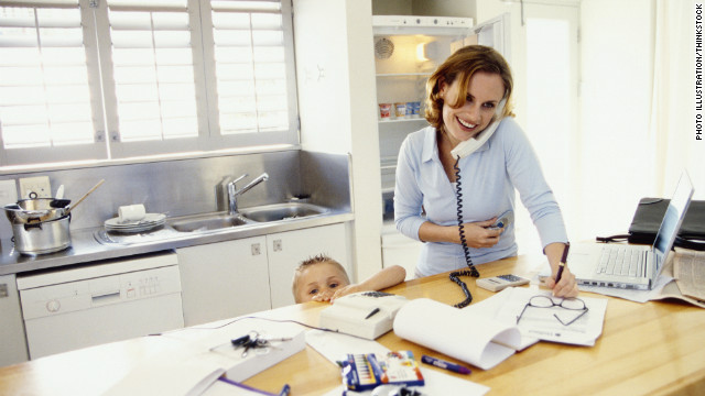 While telecommuiting can be a boon to working parents, that doesn't mean it's best for productivity, experts say.