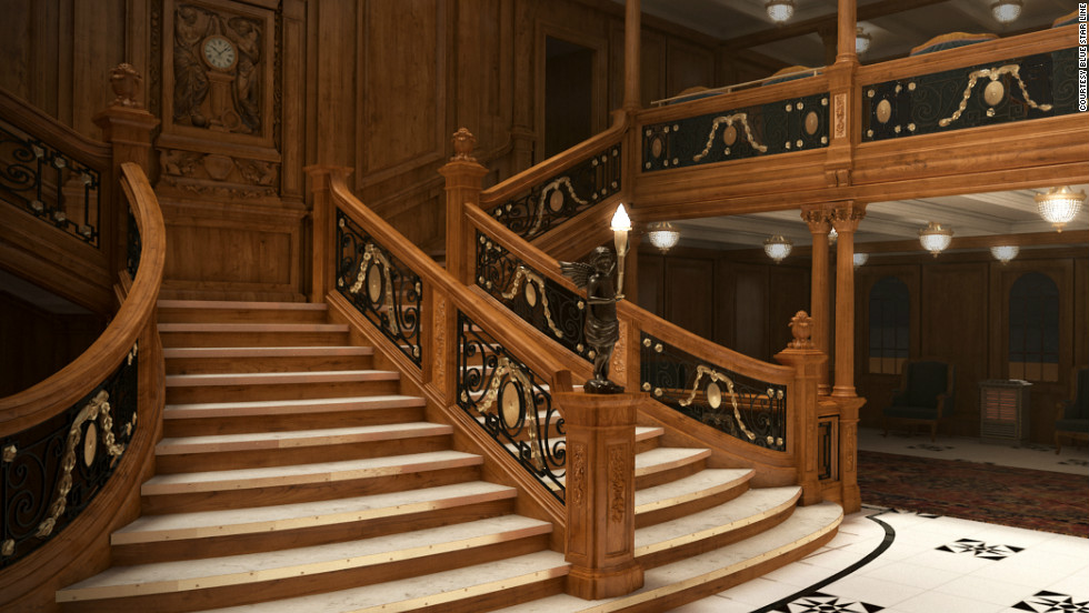 The replica of the doomed cruise liner will feature a grand staircase.