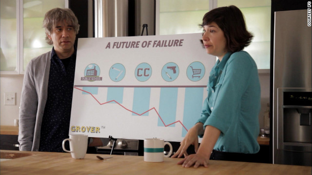 "Parents in the IFC show ""Portlandia"" explain the value of preschool to their son."