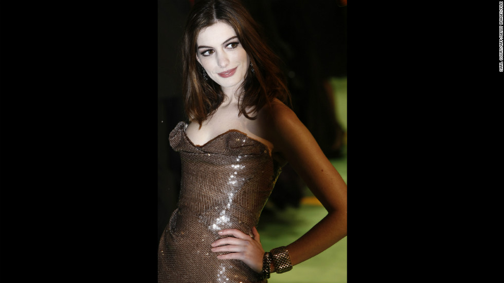 "Hathaway attends the premiere of ""Alice in Wonderland"" in London's Leicester Square in February 2010. She played the White Queen in Tim Burton's film."