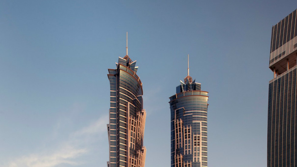 Standing tall at 355 meters (1,164 feet), the JW Marriott Marquis Dubai is now the world's tallest hotel, according to the Guinness Book of World Records.