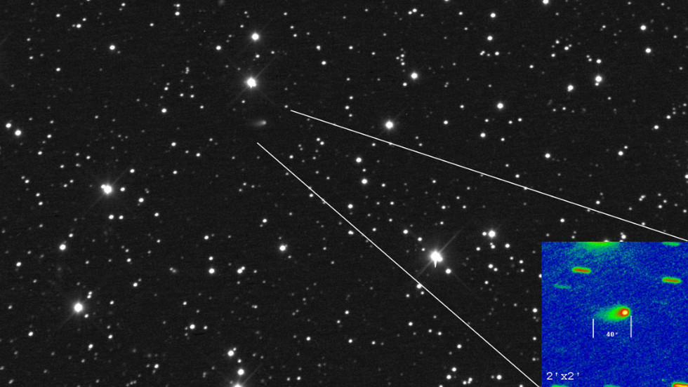 """In November, Comet ISON is expected to dive into the sun's atmosphere. Rolando Ligustri used a telescope at the <a href=""""http://www.castfvg.it/"""" target=""""_blank"""">CAST Observatory</a> in Italy to capture this image of it on February 28."""