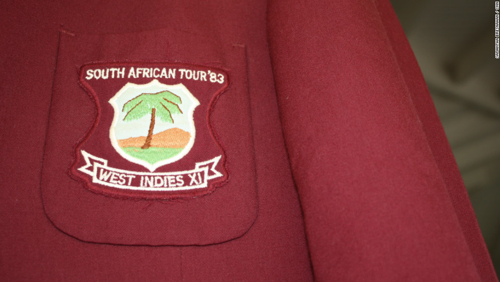 "A West Indies tour blazer from the 1983 tour. ""I knew the tour was more important than being just cricket,"" said Stephenson. ""I believe that cricket can make a difference and I'm going to be a part of that team."""