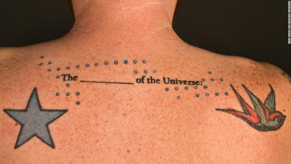"Poet Bianca Spriggs' 496-word poem ""The ___________ of the universe: A Love Story"" will be tattooed onto 248 Lexington, Kentucky, residents."