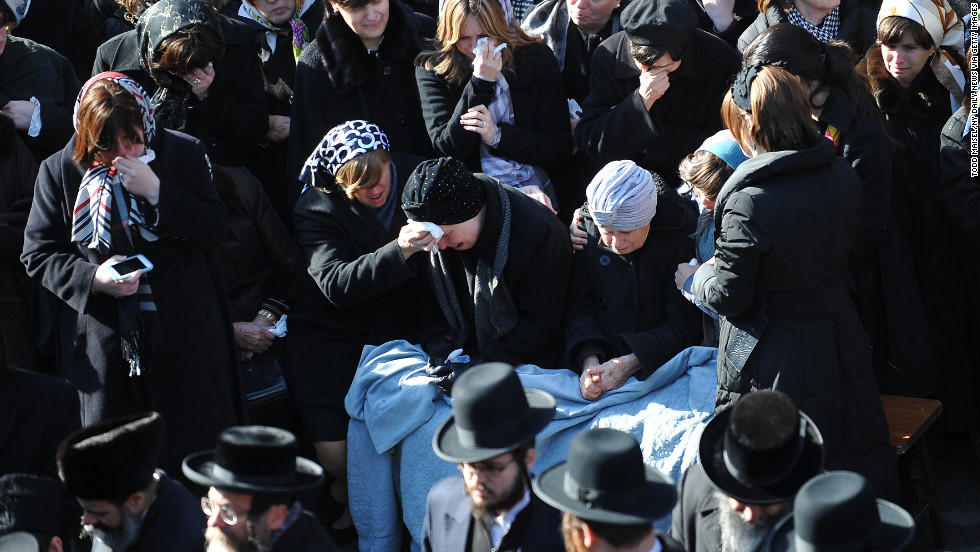 The crash brought heartache to a close-knit Hasidic community in Brooklyn, many of whom mourned the couple's deaths at a funeral service on Sunday, March 3.