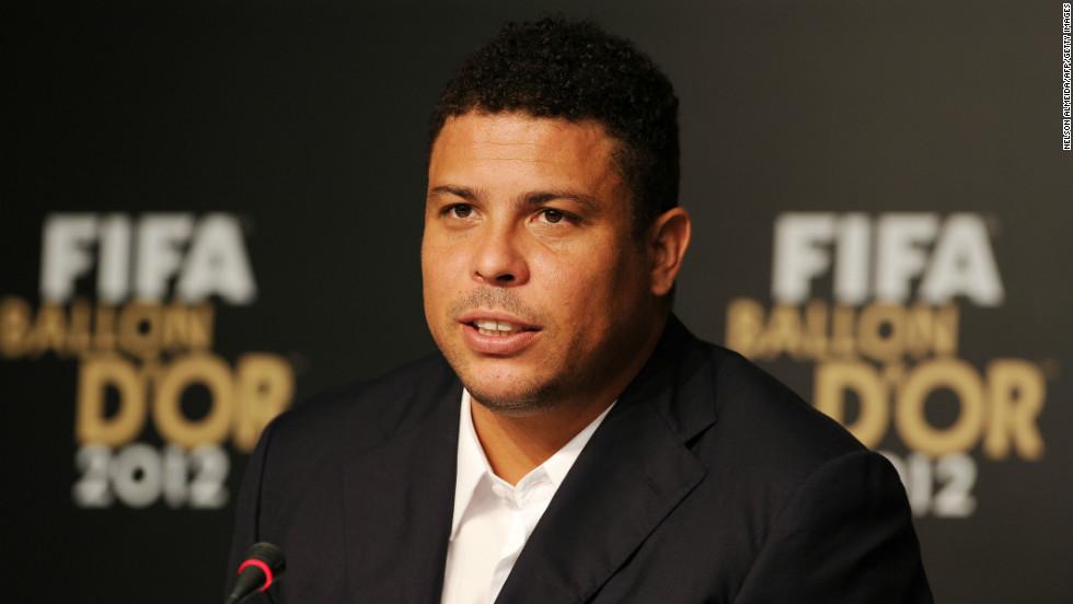 Former Brazilian footballer Ronaldo attends a press conference on November 29, 2012 in Sao Paulo, Brazil.