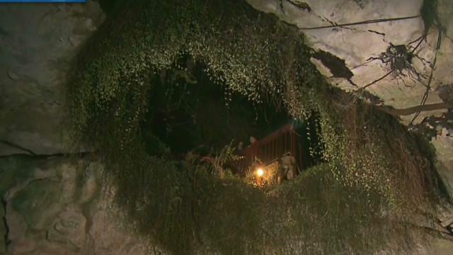 Go inside a sinkhole