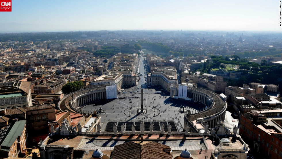 "People gather at St. Peter's Square every day in Vatican City for Mass and ceremonies. ""The monuments and archaeological sites are always accessible, always ready for any type of tourist,"" says<a href=""http://ireport.cnn.com/docs/DOC-804650""> Fanizza</a>."
