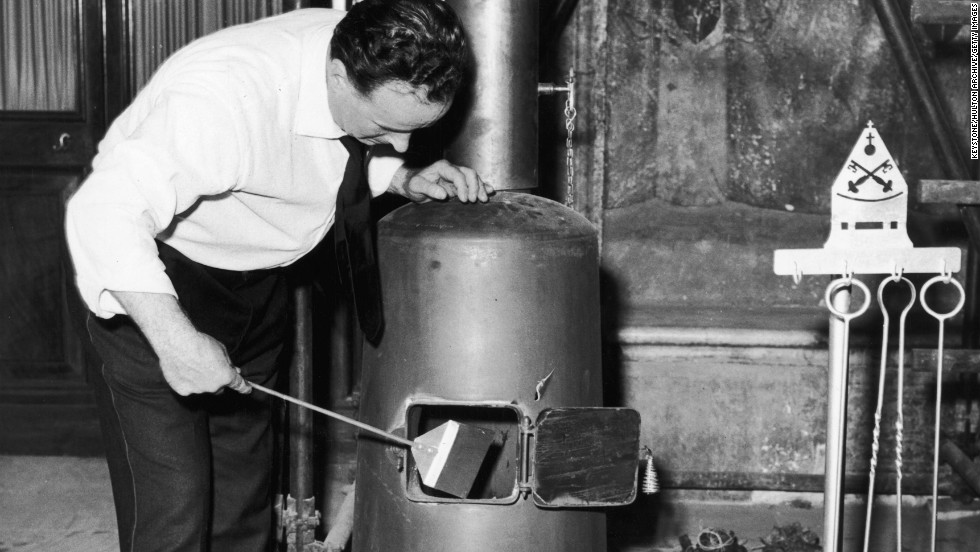 The stove in the Vatican as it appeared on June 16,1963.