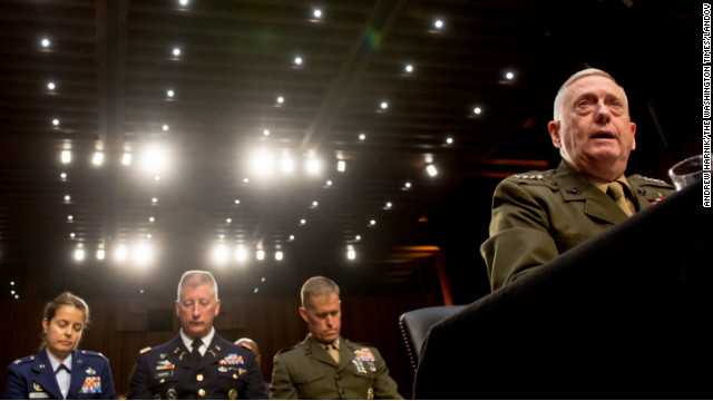 Gen. James N. Mattis testifies before the Senate Armed Services Committee, Tuesday.