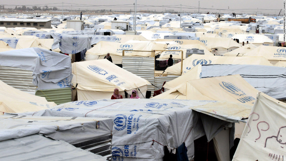 The Zaatari refugee camp in Jordan, near the Syrian border.
