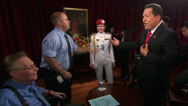 Chavez sings a tune with Larry King