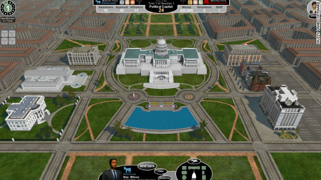 """In """"Government in Action,"""" players are newly elected representatives whose party and home district are determined for them."""