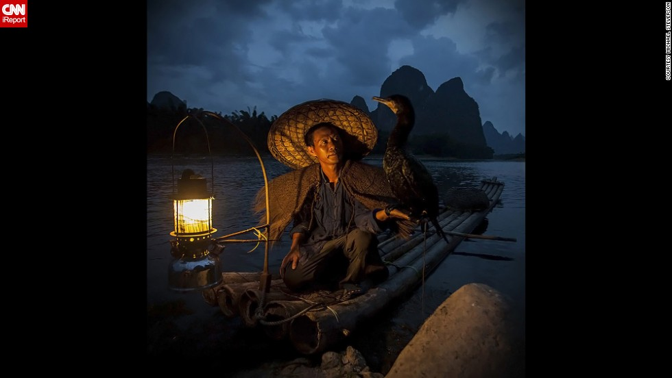 "<a href=""http://ireport.cnn.com/docs/DOC-863878"">Michael Steverson</a> came across this scene in the Xingping fishing village in China, where fishermen train cormorants to catch fish in lakes and rivers. ""This was actually a difficult shot to get,"" he said. ""I'd been trying for years to be at the right place and right time. We were able to pull off this dusk shot at the last minute."""
