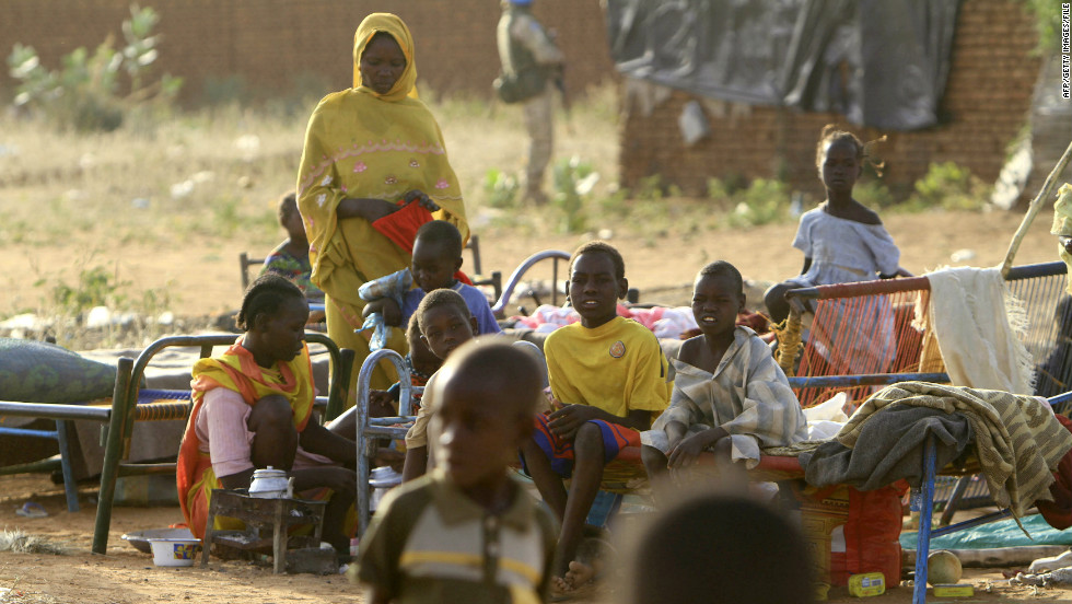 "Organizations including the Darfur Union and Waging Peace are launching the ""Darfur10"" campaign to put the war-torn region back onto the international agenda. Pictured, children at the Kalma Internally Displaced Persons camp, in November 2010."