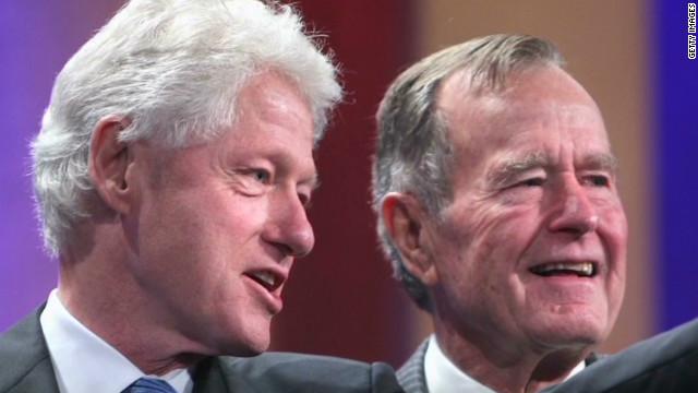 George H.W. Bush: Clinton is 'de man!'