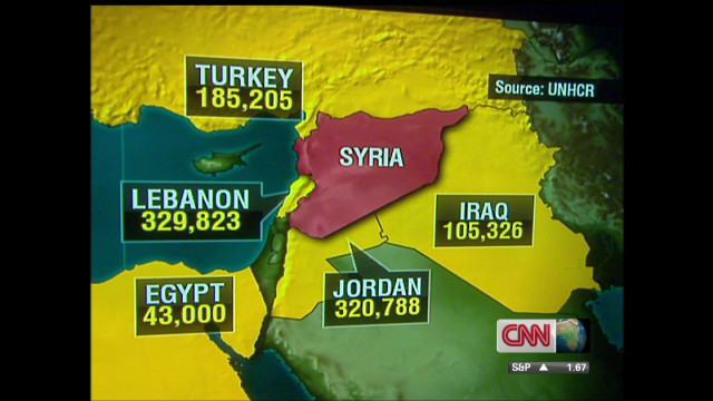 One million Syrians now refugees