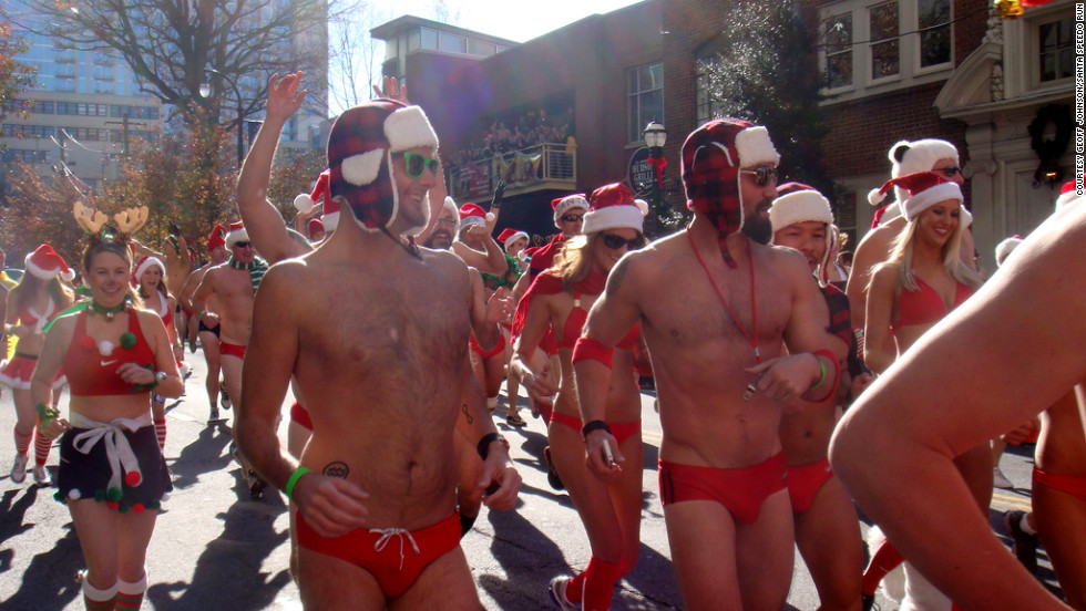 "If you think you'll need more time to train, sign up for Atlanta's annual <a href=""http://www.atlantasantaspeedorun.org/"" target=""_blank"">Santa Speedo Run</a> in December. Participants don red speedos (or bikinis) and Santa hats to traverse the 1.5 mile course. Sure it's a bit chilly, but it's worth it to raise money for a worthwhile charity."