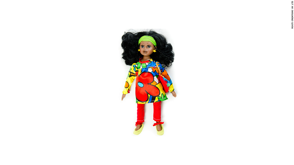"Rooti Dolls has introduced a range of talking dolls aimed at helping African children stay in touch with their heritage. Pictured is Ama -- a ""bubbling dynamic girl"" whose ""dream is to be a doctor someday,"" says the company's website. Ama speaks the Ghanaian languages of Twi, Ga, Ewe and Krobo."