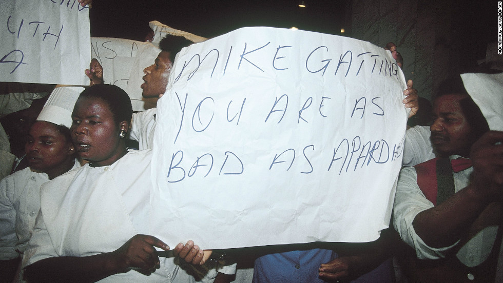 Former captain Mike Gatting led a rebel England tour to South Africa in 1990, where he was met with huge criticism and opposition by black South Africans.  The 16 England players involved were being paid by the apartheid government rather than corporate sponsors, which had also been the case on previous rebel tours.